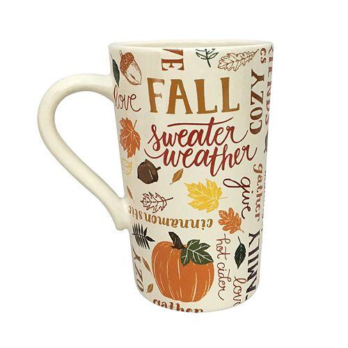 Celebrate Fall Together Fall Phrases Latte Mug