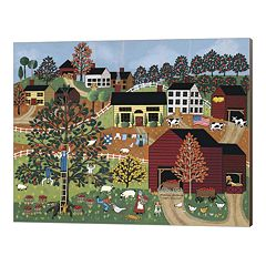 Metaverse Art Apple Harvest Canvas Wall Art