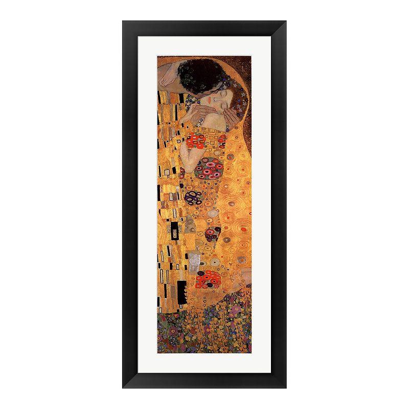 """Metaverse Art """"The Kiss, c.1908 (panel)"""" Framed Wall Art"""