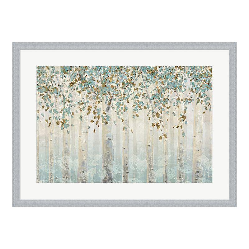 """Metaverse Art """"Dream Forest I"""" Framed Wall Art, 30X22"""
