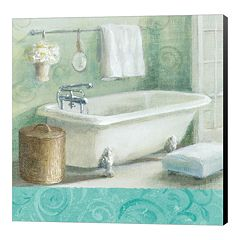 Metaverse Art 'Refresh Bath Border I' Canvas Wall Art