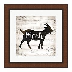 Metaverse Art 'Farmhouse Goat' Framed Wall Art