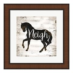 Metaverse Art 'Farmhouse Horse' Framed Wall Art