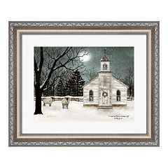 Metaverse Art 'I Heard the Bells on Christmas Day - Darker Sky' Framed Wall Art