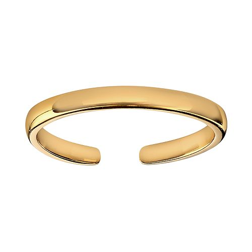 PRIMROSE 18k Gold Plated Sterling Silver Polished Band Toe Ring