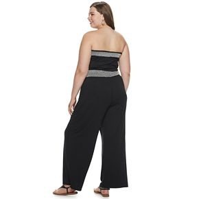 Juniors' Plus Size Mudd® Strapless Smock Jumpsuit