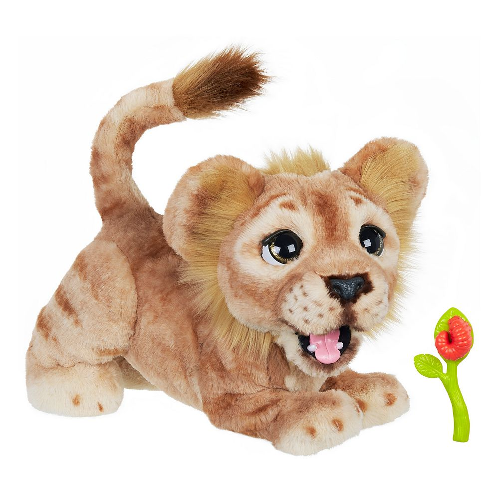 Disney The Lion King Mighty Roar Simba Interactive Plush Toy, brought to life by furReal by Hasbro