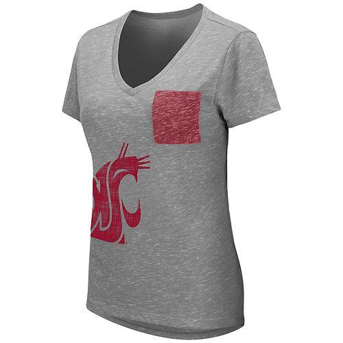 Women's Washington State University Cougars Short Sleeve Graphic Pocket Tee