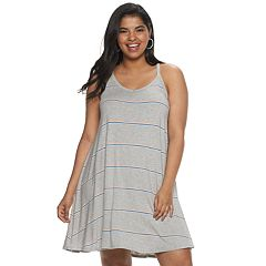 d4f5eef1d28 Juniors  Plus Size SO® Racerback Knit Dress