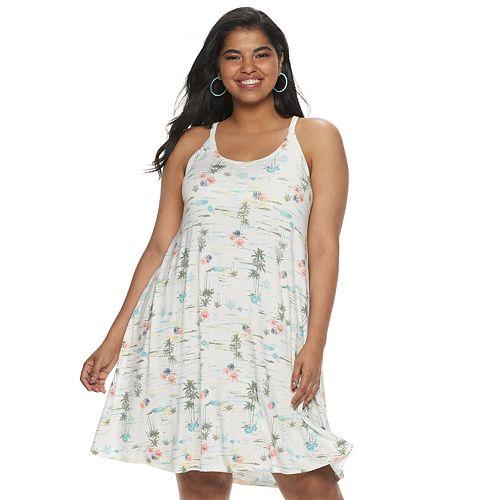 Juniors\' Plus Size SO® Racerback Knit Dress