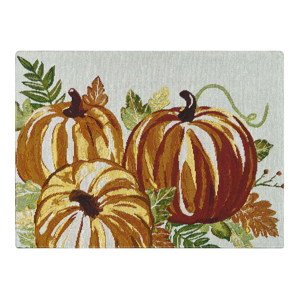 Celebrate Fall Together Harvest Pumpkin Tapestry Placemat