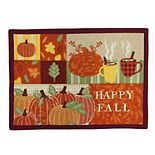 """Celebrate Fall Together """"Happy Fall"""" Patchwork Placemat"""