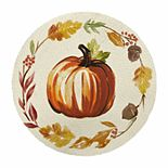 Celebrate Fall Together Round Harvest Pumpkin Placemat
