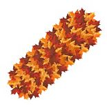 """Celebrate Fall Together Pile-of-Leaves Table Runner - 36"""""""