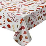 Celebrate Fall Together Word Toss Vinyl Tablecloth