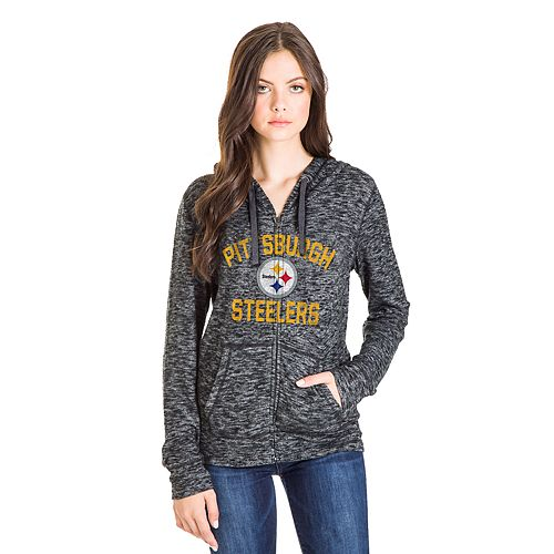 new arrival 58a26 ccc1b Women's Pittsburgh Steelers Zip-Up Hoodie