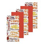 Celebrate Fall Together Autumn Word Toss Kitchen Towel 5-pk.