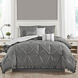 Ruffled Kiss-Pleat 7-Piece Comforter Set