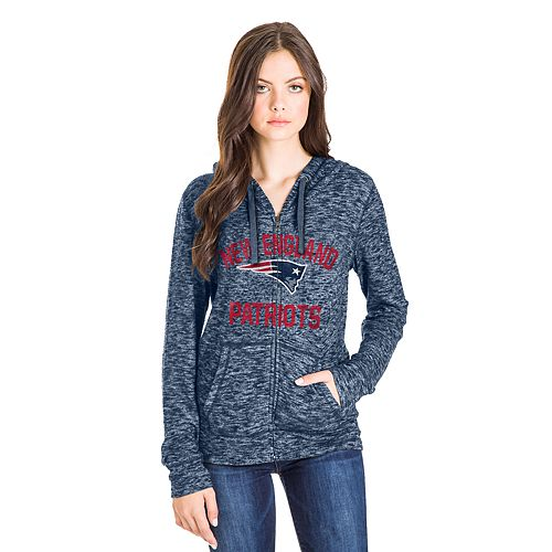 purchase cheap 54188 51a40 Women's New England Patriots Zip-Up Hoodie