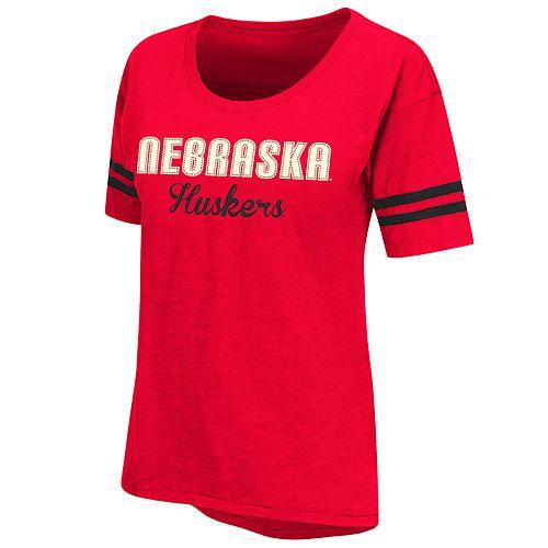 Women's NCAA Nebraska Cornhuskers Over-sized Short Sleeve Tee