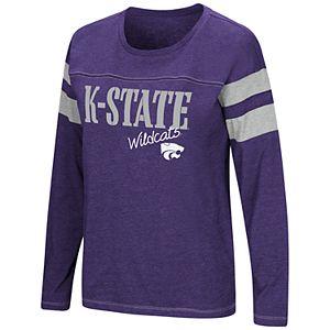 Women's Nike Purple Kansas State Wildcats Performance Slub Retro Fan V Neck T Shirt