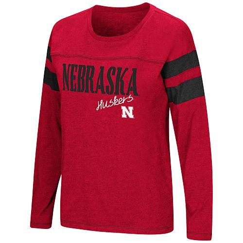 Women's NCAA Nebraska Cornhuskers Des Plaines Graphic Tee