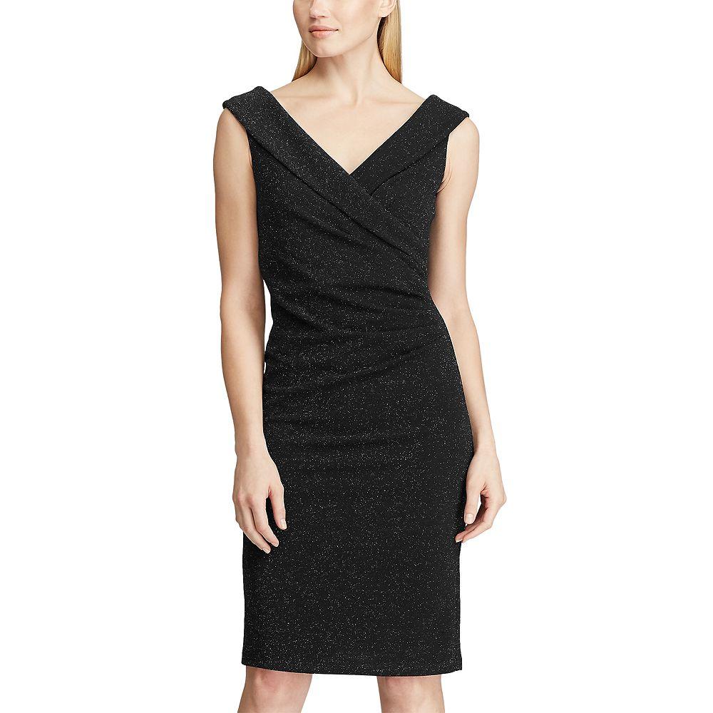 Women's Chaps Sparkly Surplice Sheath Dress