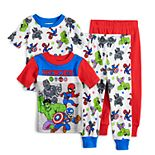Toddler Boys Marvel Super Hero Pajama Set