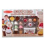 Melissa & Doug Scoop and Top Wooden Ice Cream Play Set (34 pcs)