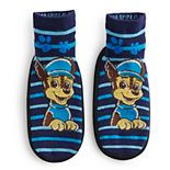 Toddler Boy Paw Patrol Chase Striped Slipper Socks
