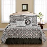 Coventry 6 Piece Quilt Purple Printed Bedspread Set