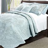 Damask Embroidered 4 Piece Bed Spread Set