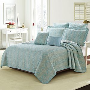 Mystic Turquoise Quilted 7-Piece Bed Spread Set