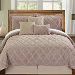 Serenta Ogee Faux Fur 7-Piece Coverlet and Sham Set