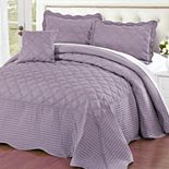Quilted Cotton 4 Piece Bed Spread Set