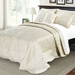 Quilted Satin 4 Piece Bed Spread Set