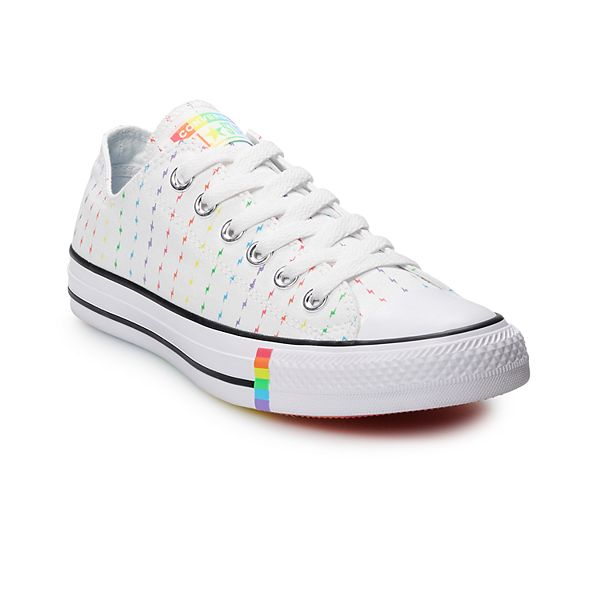 Adult Converse Chuck Taylor All Star Rainbow Bolt Low Top Sneakers