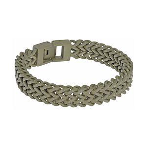 Men's LYNX Stainless Steel Double-Strand Foxtail Chain Bracelet