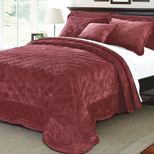 Microplush Quilted 4 Piece Bed Spread Set