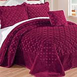 Tatami Quilted Faux Fur 4-Piece Bedspread Set