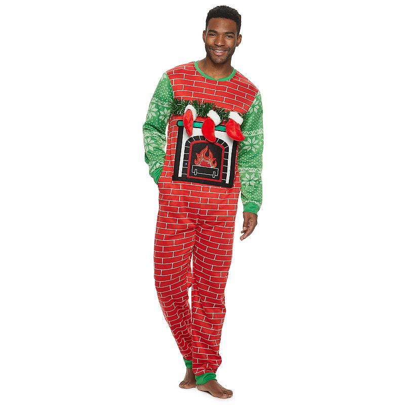 This holiday season you\\\'ll be the comfiest, most festive guy in the room in these men\\\'s Christmas stockings union suit. This holiday season you\\\'ll be the comfiest, most festive guy in the room in these men\\\'s Christmas stockings union suit. Features 3D stockings Zipper closure Side pockets Long sleeves Cuffed FIT & SIZING Lightweight Relaxed fit FABRIC & CARE Imported Machine wash Polyester Color: Red. Gender: male. Age Group: adult.