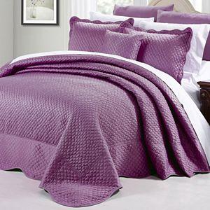 Serenta Matte Satin 4-Piece Bedspread and Sham Set