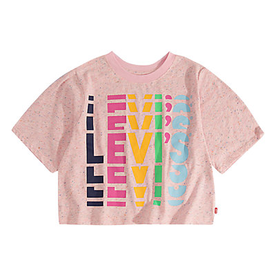 Girls 7-16 Levi's® Rainbow Logo Crop Top