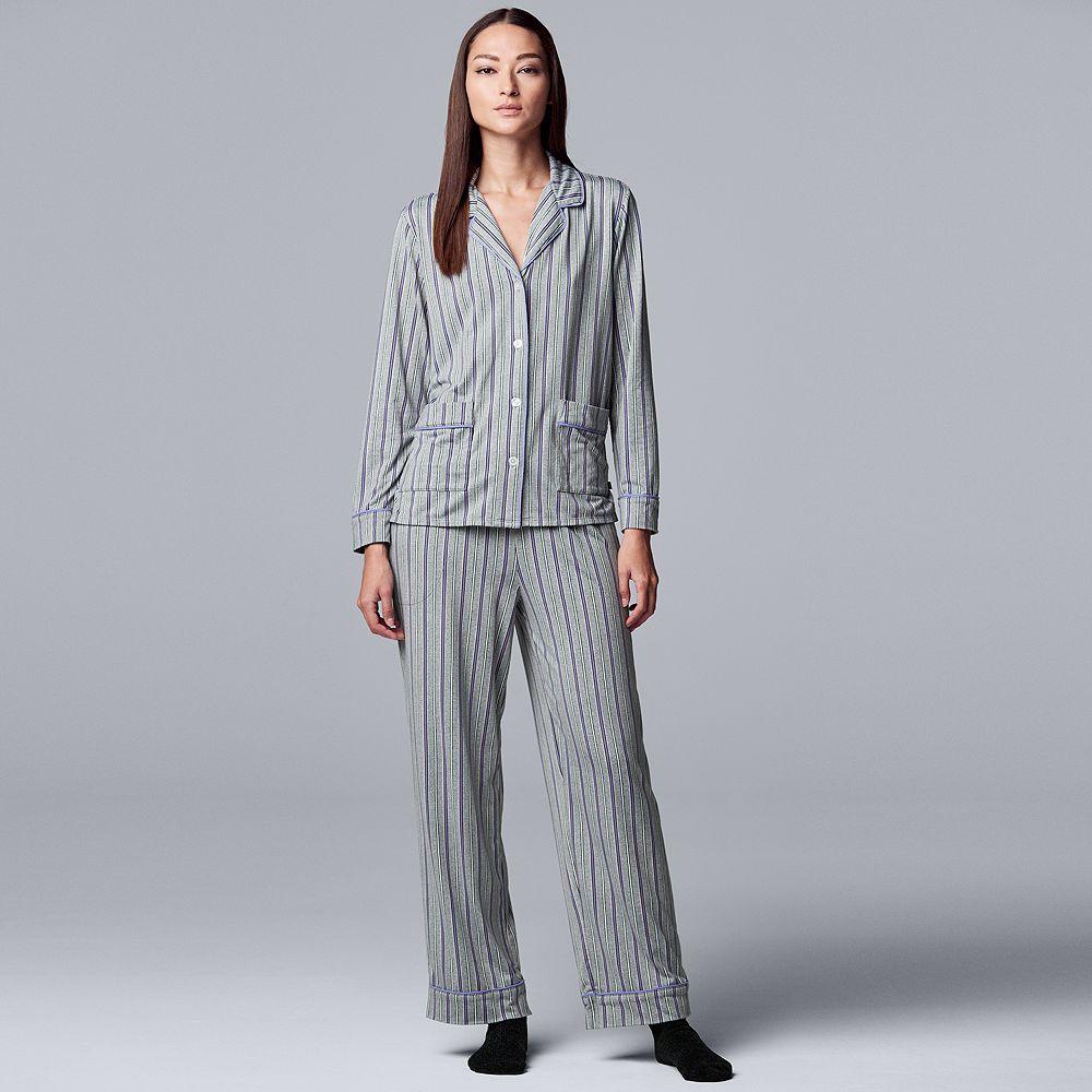 Women's Simply Vera Vera Wang 3-Piece Pajamas & Socks Set