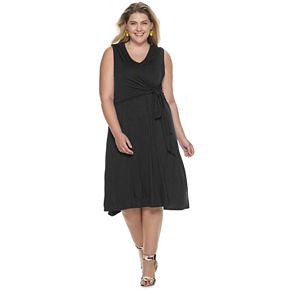 Plus Size Apt. 9® Easy Plus A-Line Dress With Knot Detail
