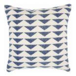 Mina Victory Nourison Triangles Navy Throw Pillow