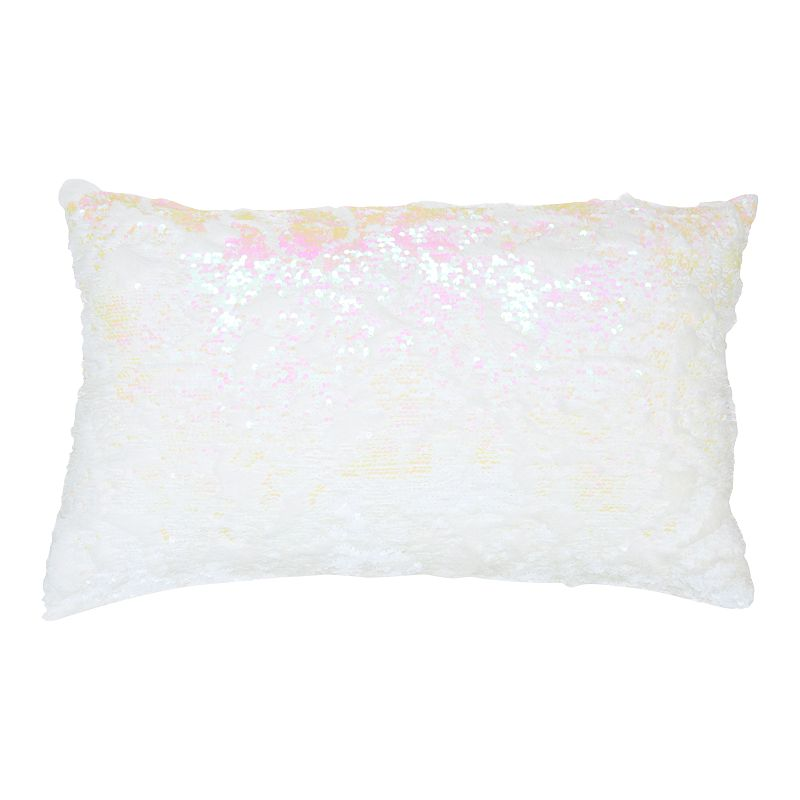 Mina Victory Sequins Multicolor Throw Pillow. Pink. 14X20