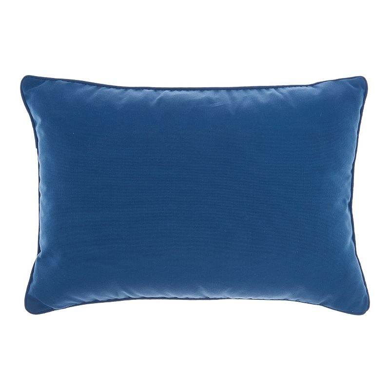 Mina Victory Solid Navy Throw Pillow, Blue, 18X18