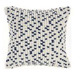 Mina Victory Loop Dots Aqua Throw Pillow