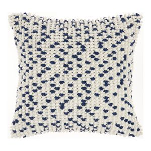 Mina Victory Loop Dots Aqua Throw Pillow